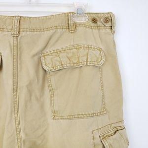 American Eagle Cargo Shorts Sz 36 Tan Pockets